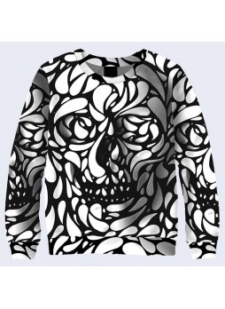 3D СВИТШОТ BLACK AND WHITE SKULL
