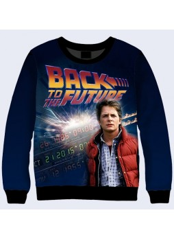 3D СВИТШОТ BACK TO THE FUTURE MARTY