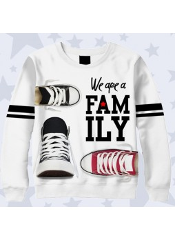 3D СВИТШОТ WE ARE FAMILY SHOES