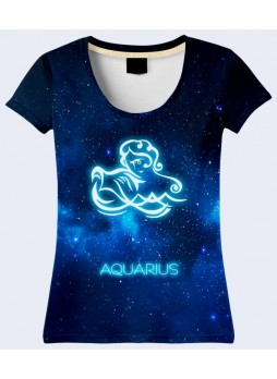 3D ФУТБОЛКА AQUARIUS ZODIAK 21.04 - 21.05
